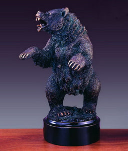 "12"" Bear Standing its Ground Statue - Wall Street Treasures"