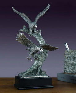 "13.5"" Flying Eagles Statue - Wall Street Treasures"