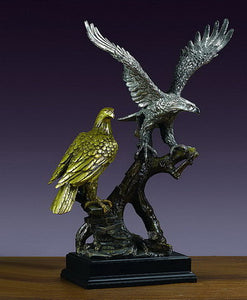 "18"" Two Eagles Statue - Wall Street Treasures"