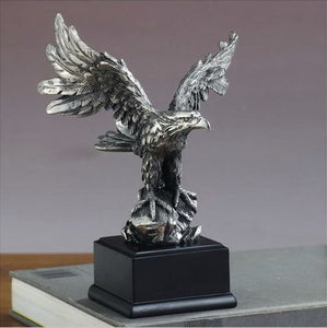 "7.5"" Pewter Eagle Statue - Wall Street Treasures"