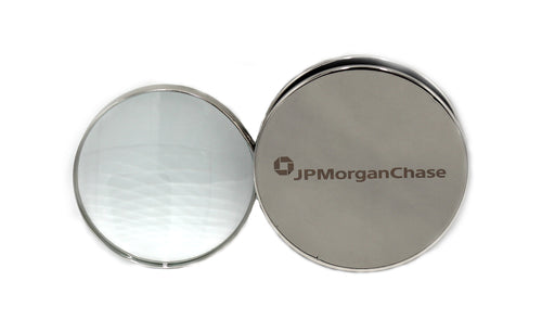 JP Morgan Chase Chrome Paperweight with Magnifier - Wall Street Treasures