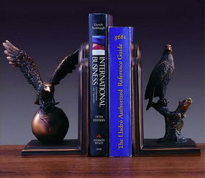 "9"" Bronzed Eagle Bookends - Wall Street Treasures"