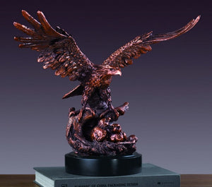 "14.5"" Eagle with Two Babies Statue - Wall Street Treasures"