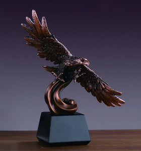 "12.5"" Eagle on Waves Statue - Wall Street Treasures"