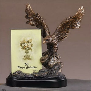 "10"" Eagle Statue with Picture Frame - Wall Street Treasures"