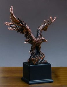 "Flying Eagle Statue - 3 Sizes - 11.5"", 16"", 19.5"" - Wall Street Treasures"