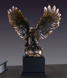 "9.5"" Perched Eagle Statue - Wall Street Treasures"
