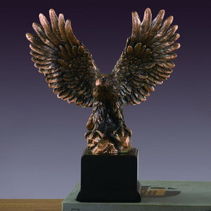 "Perched Eagle Statue - 2 Sizes - 6.5"" & 12"" - Wall Street Treasures"