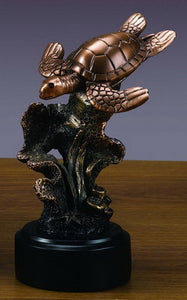 "6.5"" Sea Turtle Statue - Wall Street Treasures"