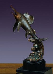 "13.5"" Swordfish Statue - Wall Street Treasures"