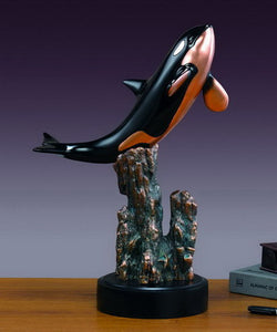 "18"" Large Orca Killer Whale Statue - Wall Street Treasures"