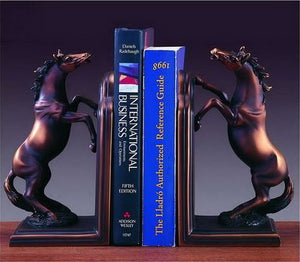"9"" Bronzed Horse Bookends - Wall Street Treasures"