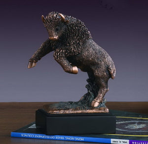 "6"" Charging Buffalo Statue - Wall Street Treasures"
