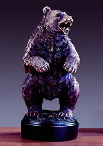 "13.5"" Bear Standing its Ground Statue - Wall Street Treasures"
