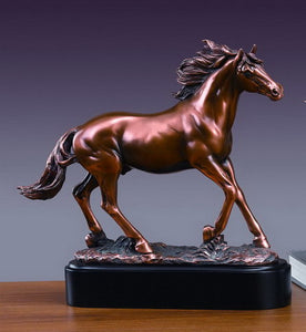 "14"" Stallion Horse Statue - Wall Street Treasures"