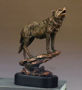 "12"" Howling Wolf Statue - Wall Street Treasures"