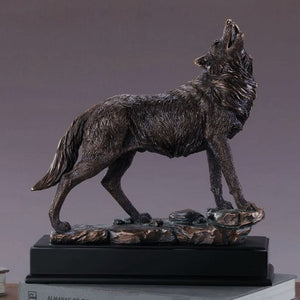 "13"" Large Howling Wolf Statue - Wall Street Treasures"
