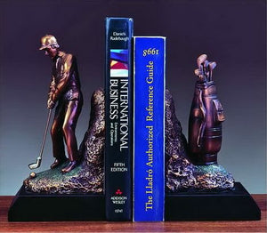 "9"" Golf Bookends - Wall Street Treasures"