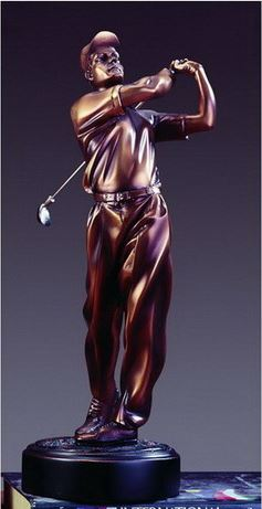 Golf Trophy - Bronzed Statue - 3 Sizes - 11.5