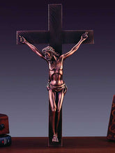 "Load image into Gallery viewer, 18"" Jesus on Cross Statue - Bronze Finished Sculpture - Wall Street Treasures"