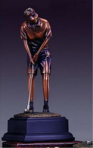 "10.5"" Lady Putting Golf Statue - Trophy - Wall Street Treasures"