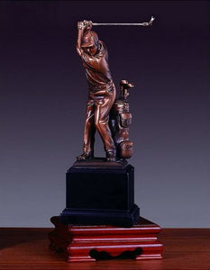 "9.5"" Driving Golf Statue - Trophy - Wall Street Treasures"