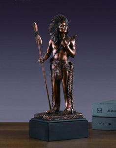 "12"" Native American Hero Statue - Wall Street Treasures"