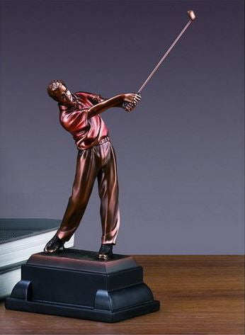 Driving Golf Trophy - Bronzed Statue - 3 Sizes - 10