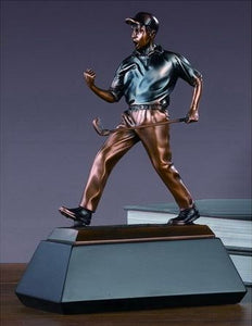 "Winner Golf Trophy - Bronzed Statue - 3 Sizes - 9"", 10.5"", 12"" - Wall Street Treasures"