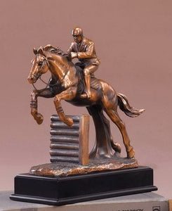 "11.5"" Equestrian Jumping Horse Statue - Wall Street Treasures"