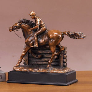 "11.5"" Jockey on Horse Statue - Wall Street Treasures"