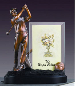 "9"" Golf Statue with Picture Frame - Wall Street Treasures"