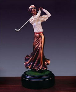 "10"" Classic Lady Golf Statue - Trophy - Wall Street Treasures"