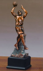 "12"" Basketball Player Statue - Trophy - Wall Street Treasures"
