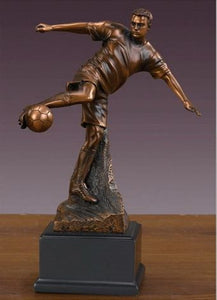 "10"" Soccer Player Statue - Trophy - Wall Street Treasures"