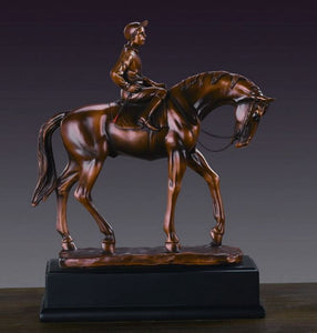 "11"" Jockey Walking Horse Statue - Wall Street Treasures"