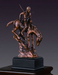 "6.5"" Native American on Horse Statue - Wall Street Treasures"