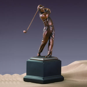 "10.5"" Driving Golf Statue - Trophy - Wall Street Treasures"