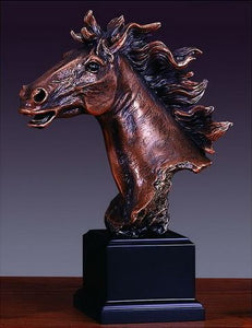 "11"" Horse Head Statue - Wall Street Treasures"