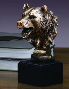 "8"" Wall Street Bear Head Statue - Wall Street Treasures"