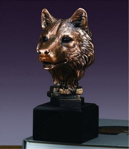 "8"" Wolf Head Statue - Wall Street Treasures"