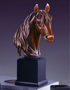 "14.5"" Horse Head Statue - Wall Street Treasures"