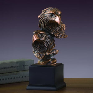"10"" Double Eagle Head Statue - Wall Street Treasures"