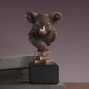 "8"" Koala Head Statue - Wall Street Treasures"
