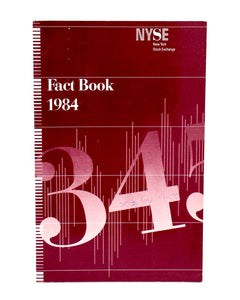 New York Stock Exchange Fact Books - Collection of 8 (1976,77,78,79,81,82,83,84) - Wall Street Treasures