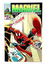 Load image into Gallery viewer, 1992 Marvel Comics Annual Report with Uncut Trading Cards - Spider-Man - Wall Street Treasures
