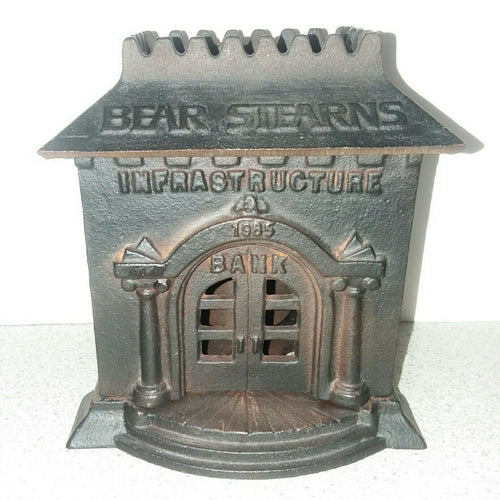 Bear Stearns Infrastructure Coin Bank - Cast Iron - Wall Street Treasures