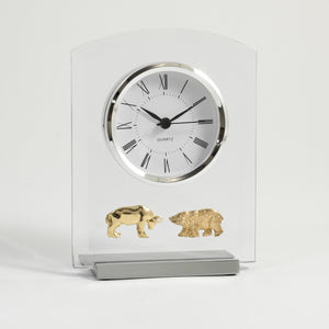 Wall Street Beveled Glass Quartz Clock - Wall Street Treasures