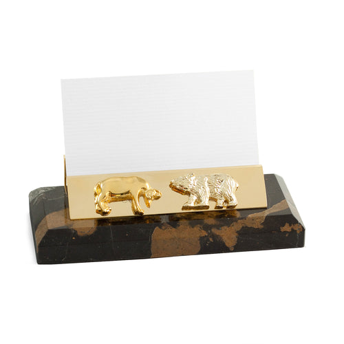 Wall Street Marble Business Card Holder - Wall Street Treasures