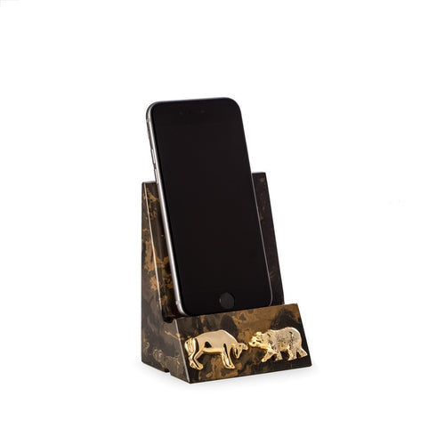 Wall Street Marble Cell Phone/Tablet Cradle - Wall Street Treasures